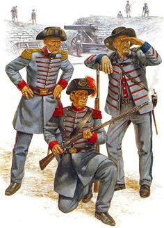 The Army of Mississippi, 1861 (full dress): • Ben Bullard Rifles • Lamar Rifles • Water Valley Rifle Guard: