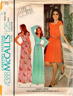 Vintage UNCUT Marlo Thomas McCall's Pattern 4388 by RestlessNeedle Marlo Thomas, Mccalls Patterns, Disney Princess, Sewing, Trending Outfits, Clothing, Unique, Vintage, Etsy