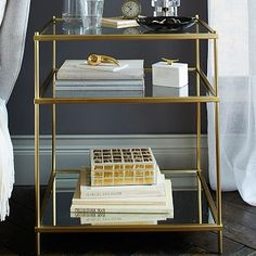 Terrace Nightstand - Antique Brass