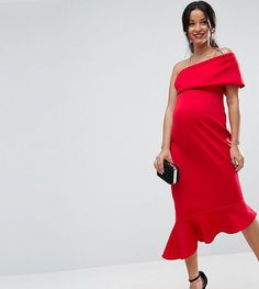 Buy Red Asos maternity Midi dress for woman at best price. Compare Dresses prices from online stores like Asos - Wossel Global Asos Maternity, Maternity Midi Dress, Casual Maternity, Red Midi Dress, Maternity Fashion, Maternity Clothing, Summer Maternity, Maternity Styles, Pregnancy Fashion