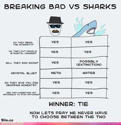 """""""Breaking Bad"""" vs Sharks"""