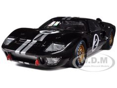 1966 FORD GT-40 MK 2 #2 BLACK 1/18 DIECAST MODEL CAR SHELBY COLLECTIBLES SC408 #ShelbyCollectibles #Ford