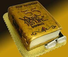 �A Memoir of Life�s Moments� 3D Fondant Book Cake