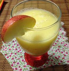 Suco de maçã delicioso