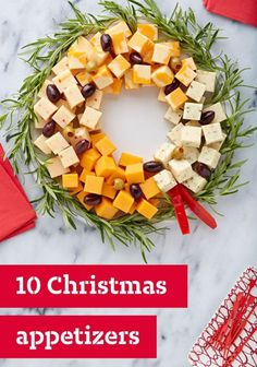20 ideas to decorate your dishes for the holiday season - Kitchen - Tips and Crafts Christmas Dinner Menu, Christmas Entertaining, Christmas Party Food, Xmas Food, Christmas Appetizers, Christmas Cooking, Christmas Goodies, Christmas Holidays, Christmas Cheese