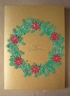 Handmade christmas card by loopy lou p, via Flickr
