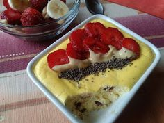 my way to fitness: Vanilkový pečený tvaroh Healthy Style, Food Club, Sweet Recipes, Health Fitness, Fitness Life, Sweet Treats, Cheesecake, Clean Eating, Food And Drink