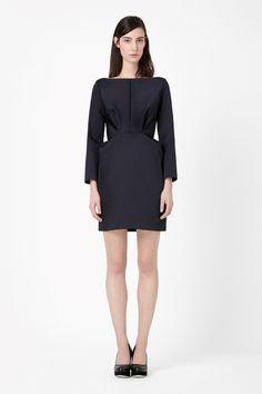 Folded waist dress - Navy - All Articles - COS NL
