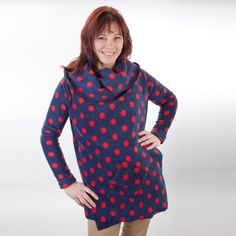 This Hugget jacket is perfect for country walks, shopping trips and pyjama days!  http://www.hugget.co.uk/product/navy-red-polkadot/