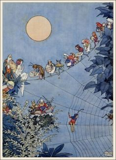 William Heath Robinson ~ The Fairy's Birthday ~ Holly Leaves (Magazine) December 1925 ~ via The Pictorial Arts