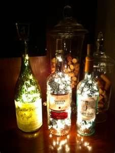Unique Recycled Bottle Lamp Christmas Decorating Idea On Tiwule Home .