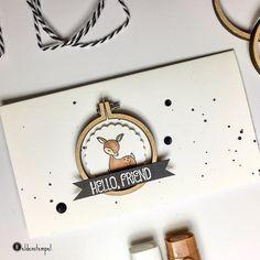 Heute gibt's endlich einen Beitrag mit dem kleinen Baby-Weißwedelhirsch aka Bambi. Dieser ist wunderbar zu kombinieren mit dem Mini-Stickrahmen.