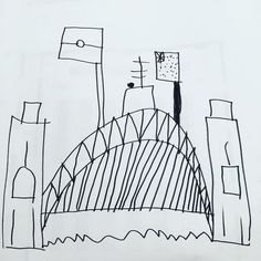 Another fabulous drawing by 5 year old Jake Jackson  #sydneyharbourbridge #drawing by jocelyn_l_jackson http://ift.tt/1NRMbNv