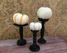 Dollhouse Miniature Pumpkin Pillars