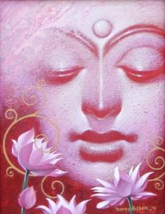 """""""There are only two mistakes one can make along the road to truth; not going all the way, and not starting. Art by Bappa Haldar. Buddha Face, Buddha Zen, Gautama Buddha, Buddha Drawing, Buddha Painting, Buddha Artwork, Painting Canvas, Indian Contemporary Art, Indian Art Paintings"""