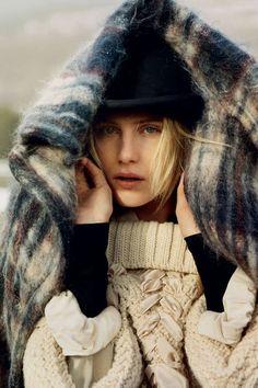 Dree Hemingway in knits, plaids, and wools.    #fall #CHaLKNYC www.chalknyc.com