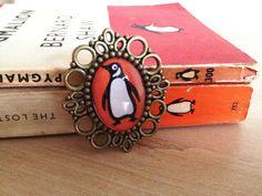 Penguin Classics Books Cameo Brooch Literary Gift. $12.50, via Etsy.