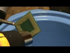 How To Remove Gold Plated Pins from Green Fiber CPU's: Top two methods - YouTube