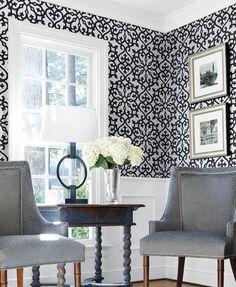 Allison Black wallpaper by Thibaut