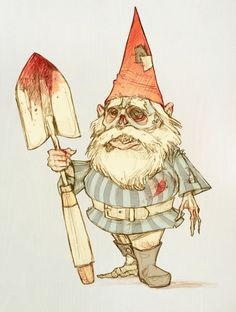 Zombie Gnome by ~LunaLouise on deviantART
