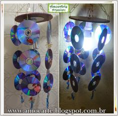Lustre de cd http://www.amocarte.blogspot.com.br/