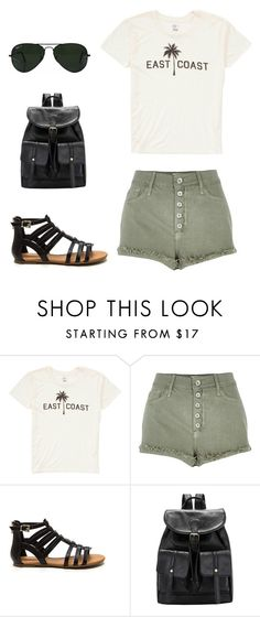 """Look of the Day #129!"" by designer01kitty on Polyvore featuring Billabong, River Island, Ray-Ban, natural, lookoftheday and eastcoast"