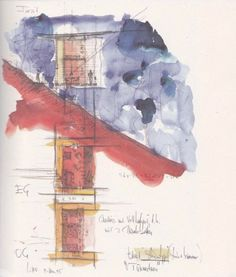 Peter Zumthor on Pinterest   Museums, Pavilion and Watercolor Sketch
