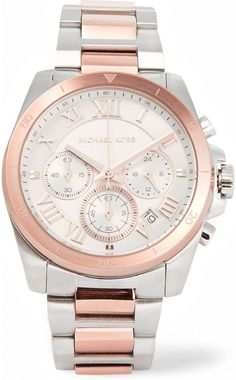 Michael Kors Watches Brecken silver and rose gold-tone watch