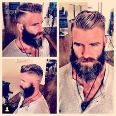 The rockabilly haircut with a full beard you just can't go wrong!