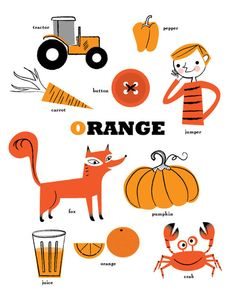 Orange for carrots, pumpkins and crabs!