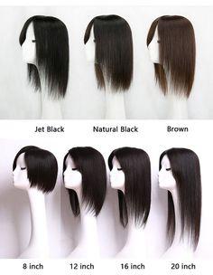 Natural Silk Top Human Hair toppers for womens toupee half wigs top hair pieces - Silk Top Toppers Dipped Hair, Dip Dye Hair, Dip Dyed, Bright Hair Colors, Colourful Hair, Turquoise Hair, Neon Hair, Thin Hair Haircuts, Hair Toppers