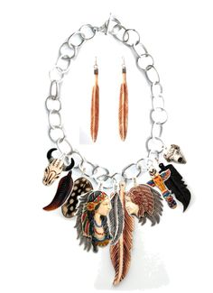Coreen Cordova Indian Chief and Maiden Necklace Idea, created by maverick-western-wear on Polyvore