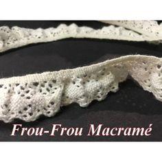 dentelle frou-frou en dentelle macramé