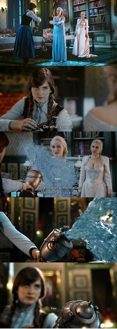 """Anna, I love you."" Elsa, Anna and Snow Queen 4*8 ""Smash the Mirror"""