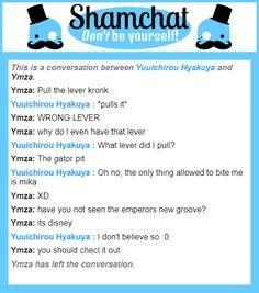 A conversation between Ymza and Yuuichirou Hyakuya