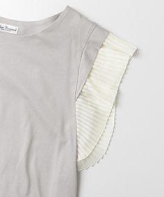 URBAN RESEARCH WOMENS(アーバンリサーチウィメンズ)のUR 袖プリーツTシャツ(Tシャツ/カットソー)|詳細画像