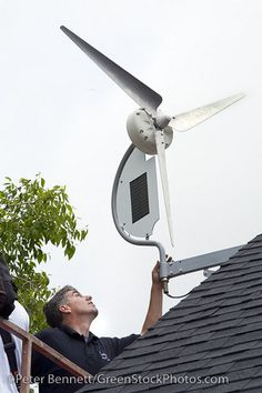 Installing a wind turbine by CitizenOfThePlanet, via Flickr