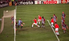Ole Gunnar Solskjaer scored Manchester United's winning goal against Bayern Munich in the 1999 Champions League final