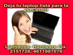 Deja tu laptop lista para la escuela con HardwareFix