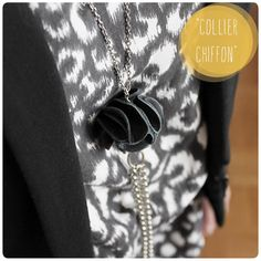 DIY - Leather and chains necklace