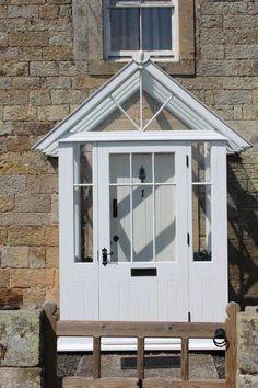 Profane porch design architecture go to this website Front Porch Design, Patio Design, House Design, Porch Designs, Cottage Porch, Cottage Exterior, House Doors, House Entrance, House With Porch