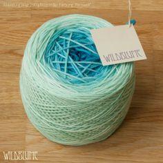 """Merino """"Ecco"""" - Handgefärbtes Verlaufsgarn von Wildblume-Wolle auf DaWanda.com"""