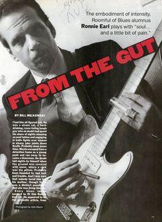 Ronnie Earl Pin Up - Aldo Mauro - Paper Ephemera - Music Room Decor - 80s Music - Music Pin Up - Pin-Up - 1980s Pin Up -…
