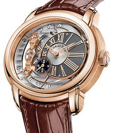 Audemars Piguet Millenary Automatic Skeleton Dial Rose Gold Leather Strap Men's Watch - Millenary - Audemars Piguet - Shop Watches by Brand - Jomashop Dream Watches, Fine Watches, Sport Watches, Luxury Watches, Rolex Watches, Women's Skeleton Watch, Skeleton Watches, Audemars Piguet Watches, Mens Watches For Sale