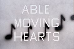 Able Moving Hearts, Ed Ruscha, 1990