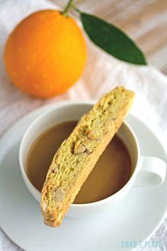 Almond-Orange Biscotti are perfect for dunking