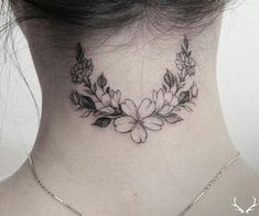 intricate neck tattoo