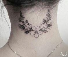 intricate neck tattoo