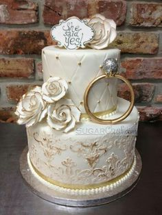 Wedding Cakes Designs Bridal Shower 67 Ideas For 2019 wedding cakes Engagement Cake Design, Engagement Decorations, Engagement Cakes, Wedding Decorations, Engagement Parties, Engagement Ideas, Engagement Pictures, Engagement Shoots, Engagement Photography
