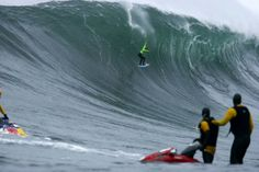 Surfing some of the biggest waves in the world at Dungeons in Hout Bay - Cape Town. South Africa